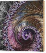 Fractal Spiral 2 - A Fractal Abstract Wood Print