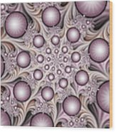 Fractal Stars Wood Print