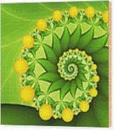 Fractal Sweet Yellow Fruits Wood Print