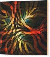 Fractal Swirl Wood Print