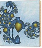 Fractal Tears Of Joy 2 Wood Print