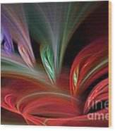 Fractal Vortex Swirl Wood Print