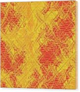 Fractalia For Red And Yellow Colors V Wood Print