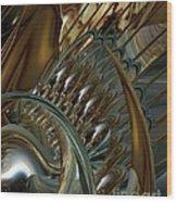 Fractals Wood Print by Doris Wood
