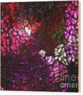 Fractured Color Wood Print