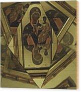 Fractured Faith Wood Print