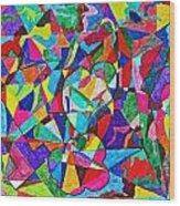 Fractured Kaleidoscope Wood Print