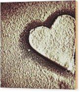 Imprint On My Heart Wood Print
