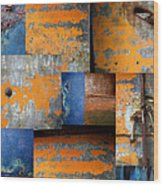 Fragments Antique Metal Wood Print by Ann Powell
