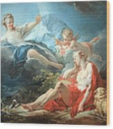Fragonard's Diana And Endymion Wood Print