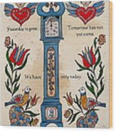 Fraktur Scriften-time Wood Print