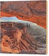 Framed By Mesa Arch Wood Print