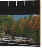Framed Fall Foliage Wood Print