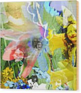Framed In Flowers Wood Print