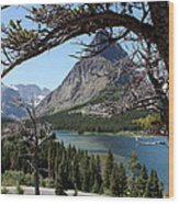 Framed Peaks Wood Print by Carolyn Ardolino