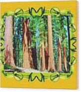 Framed Sequoias Wood Print