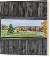 Framed-autumn In Vermont Wood Print