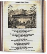 Framed Vintage 23rd Psalm Sepia Wood Print