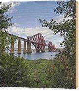 Framing The Forth Bridge Wood Print