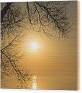 Framing The Golden Sun Wood Print