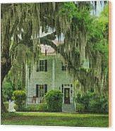 Frampton Plantation House Wood Print