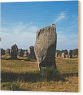 France Brittany Carnac Ancient Megaliths  Wood Print