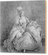 France Court Life, 1778 Wood Print