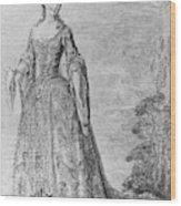 France Fashionable Lady Wood Print