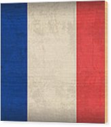 France Flag Distressed Vintage Finish Wood Print