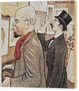 France Paris Poster Of Paul Verlaine And Jean Moreas Wood Print
