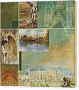 France Unesco World Heritage Poster Wood Print
