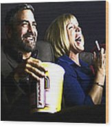 Frances Mcdormand And George Clooney @ Burn After Reading Wood Print