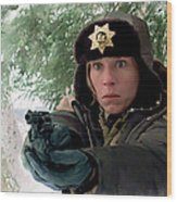 Frances Mcdormand As Marge Gunderson In The Film Fargo By Joel And Ethan Coen Wood Print