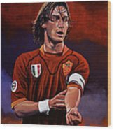 Francesco Totti Wood Print