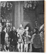 Francis I & Charles V Wood Print