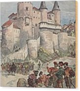 Francis I Held Prisoner In A Tower Wood Print