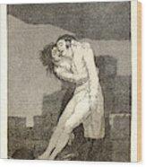 Francisco De Goya Spanish, 1746-1828. El Amor Y La Muerte Wood Print