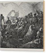 Franco-prussian War Prussians In Metz Wood Print