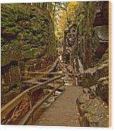 Franconia Notch Flume Gorge Boardwalk Wood Print