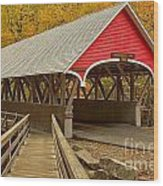 Franconia Notch Flume Gorge Bridge Wood Print