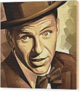 Frank Sinatra Artwork 2 Wood Print