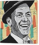 Frank Sinatra Pop Art Wood Print