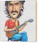 Frank Zappa Wood Print by Art