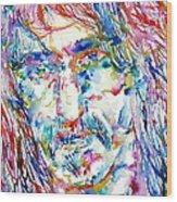 Frank Zappa  Portrait.3 Wood Print