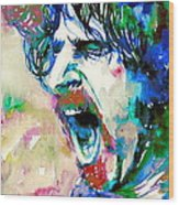 Frank Zappa  Portrait.4 Wood Print