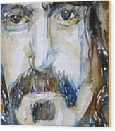 Frank Zappa Watercolor Portrait.2 Wood Print