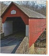 Frankenfield Covered Bridge Wood Print
