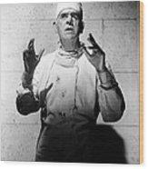 Frankenstein 1970, Boris Karloff, 1958 Wood Print