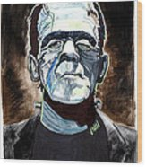 Frankenstein Boris Karloff Wood Print
