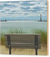 Frankfort Lighthouse Front Row Seats Available Wood Print